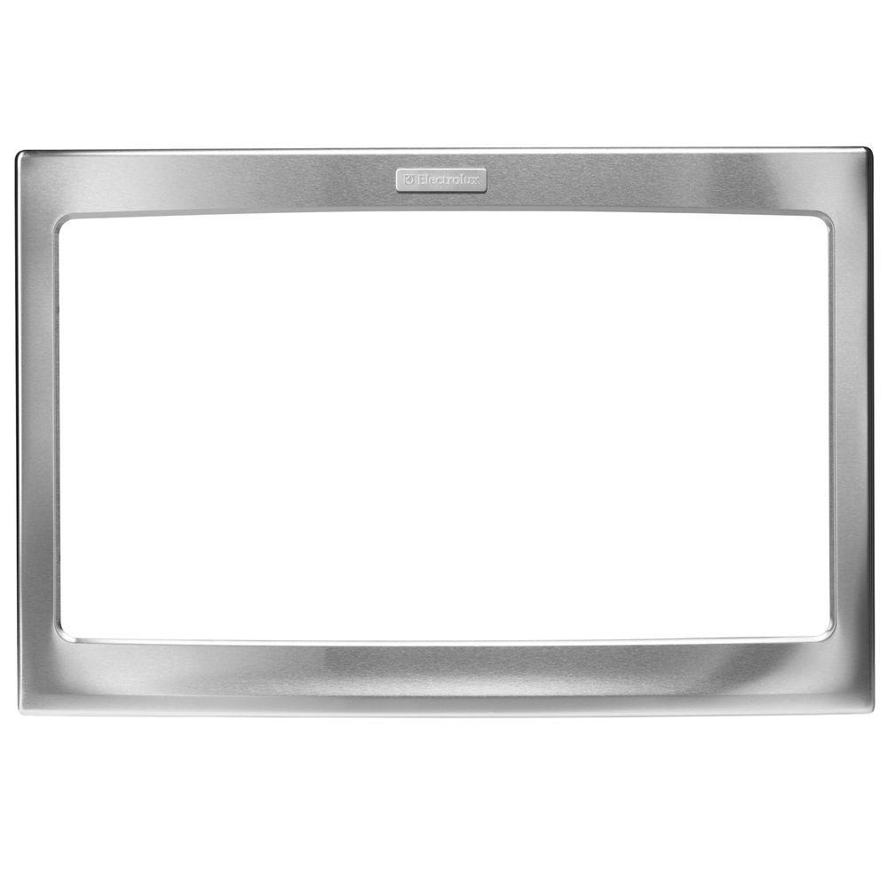 27 in. Trim Kit for Built-In Microwave Oven in Stainless Steel