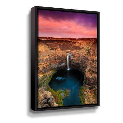 'Palouse Falls' by  Shawn & Corinne severn Framed Canvas Wall Art