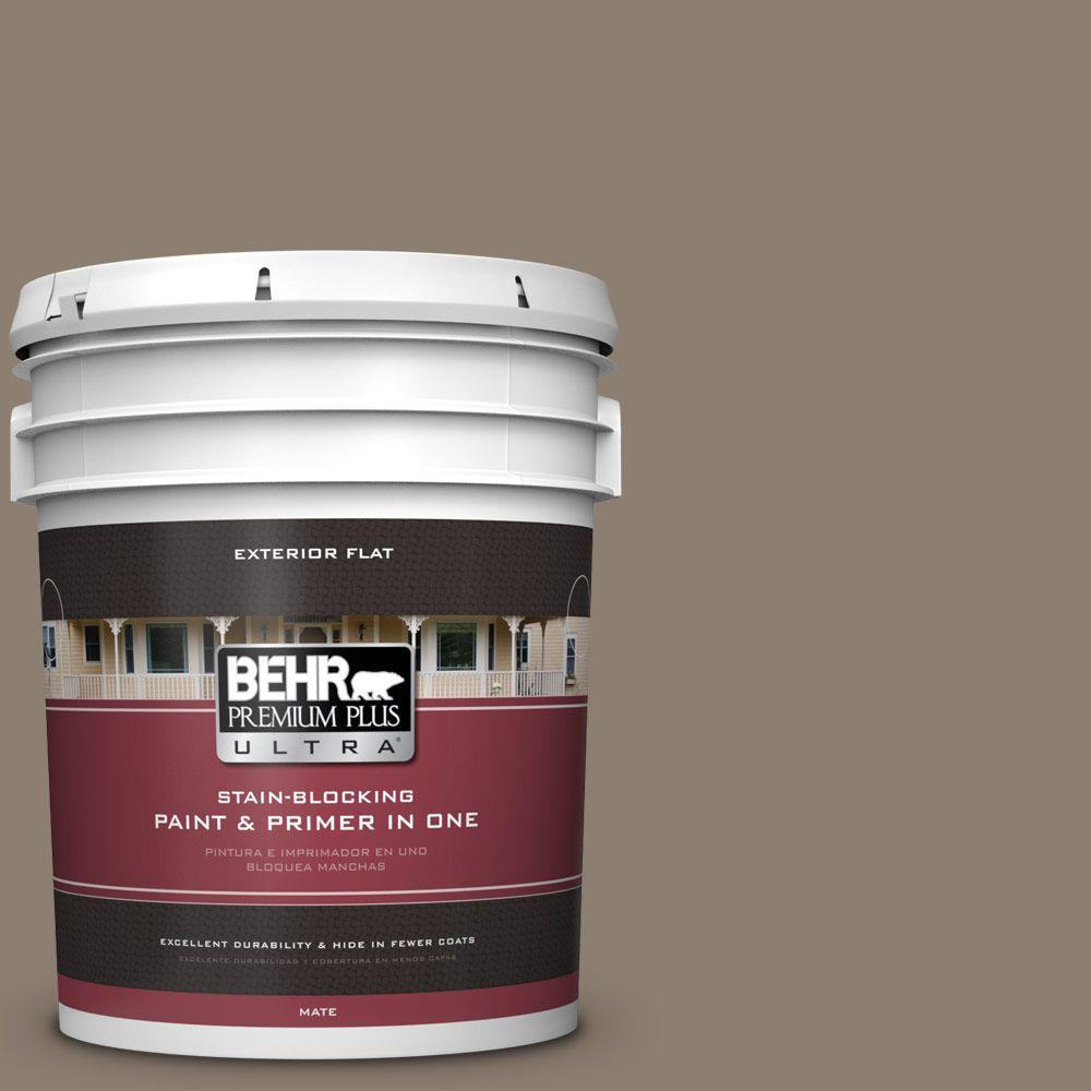5-gal. #BNC-36 Restful Brown Flat Exterior Paint