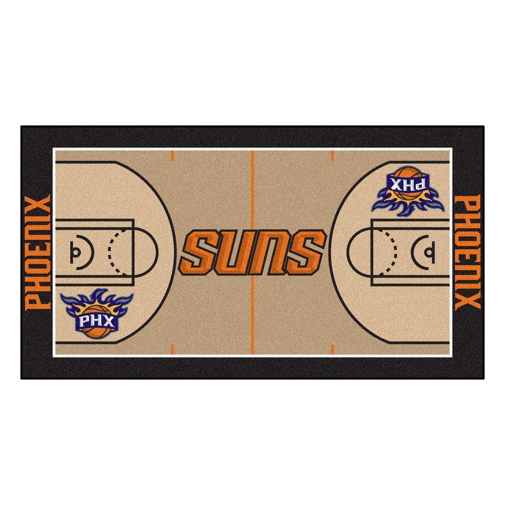 Fanmats Phoenix Suns 2 Ft X 3 Ft 8 In Nba Court Rug