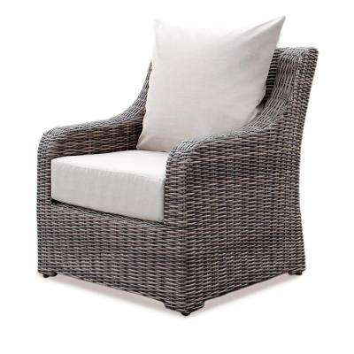 Cherry Hill Wicker Outdoor Lounge Chair with Cast Ash Cushion