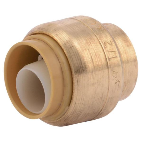 1/2 in. Push-to-Connect Brass End Stop Fitting