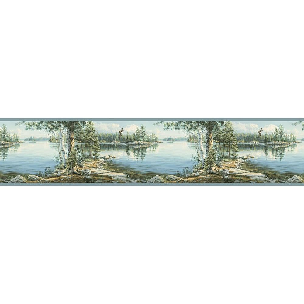 Caddo Sky Echo Lake Wallpaper Border Sample