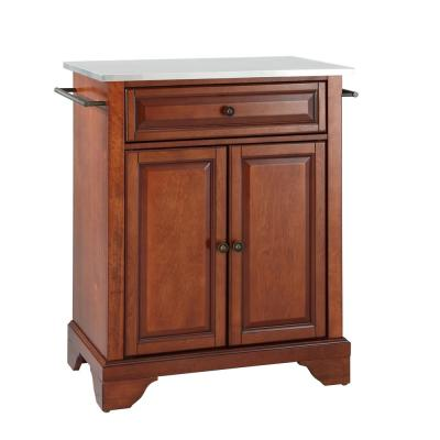 Lafayette Portable Kitchen Island with Stainless Steel Top