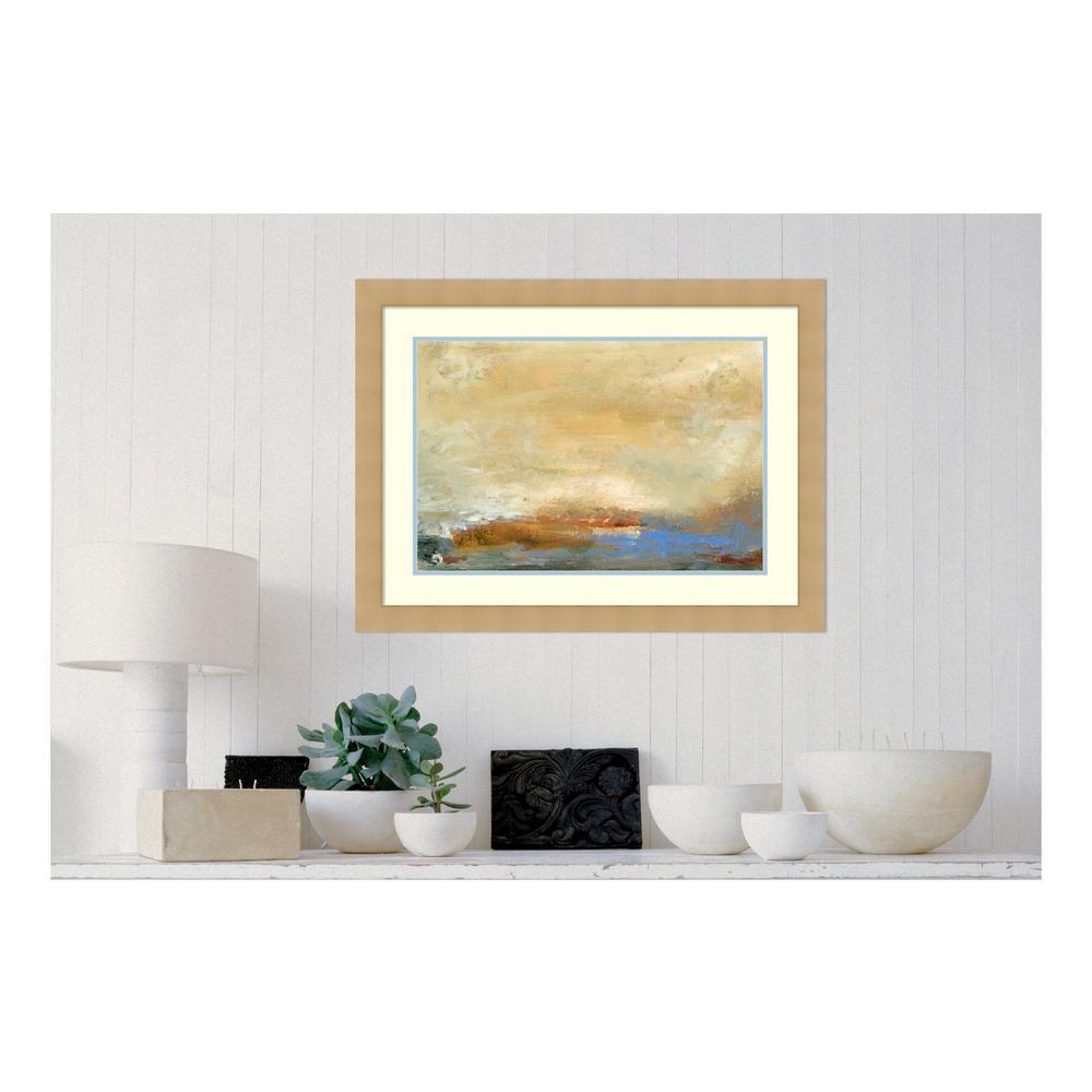 "24 in. H x 32 in. W ""Coast View  I"" by "" Sharon Gordon"" Framed Print Wall Art"