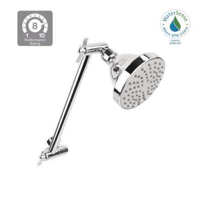 1 Spray 4 in. Showerhead 1.8 GPM withAdjustable Arm in Chrome