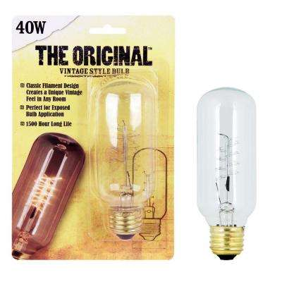 40W Soft White T14 Dimmable Incandescent Antique Edison Amber Glass Filament Vintage Style Light Bulb