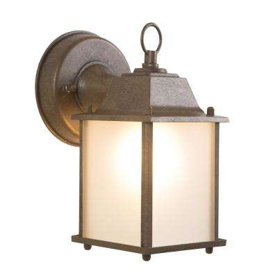 Tara Collection 1-Light Brown Outdoor Wall-Mount Lamp