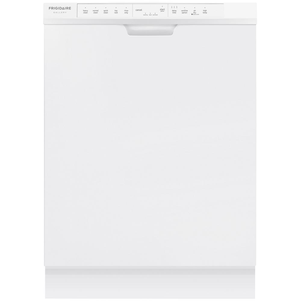 Frigidaire Gallery Front Control Dishwasher In White With