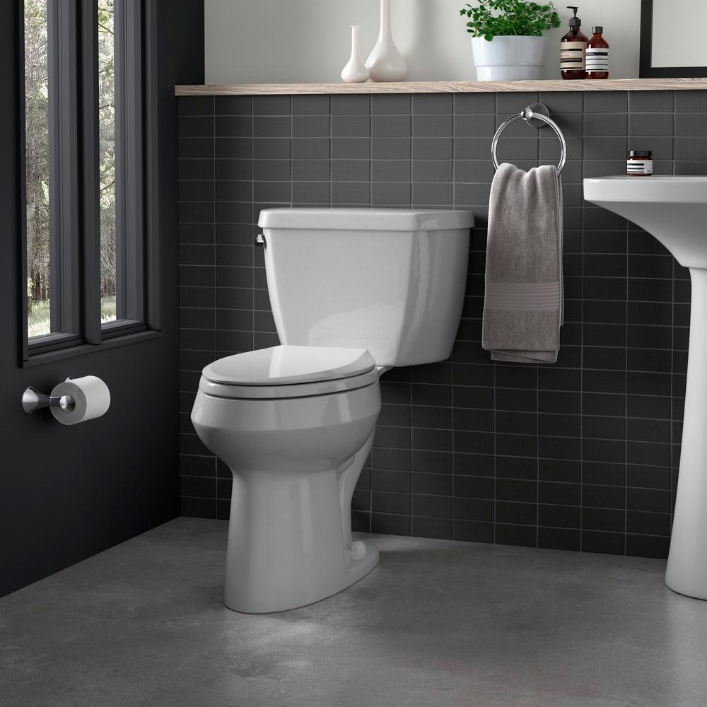 Magnificent Kohler Cachet Quiet Close Elongated Closed Front Toilet Seat With Grip Tight Bumpers In Ice Grey Beatyapartments Chair Design Images Beatyapartmentscom