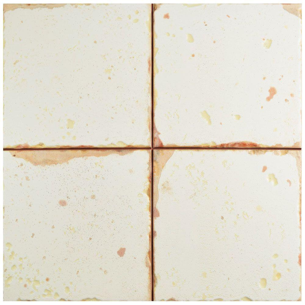 Merola Tile Artisan Blanco 13 in. x 13 in. Ceramic Floor and Wall Tile (12.2 sq. ft. / case)