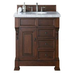 James Martin Signature Vanities Brookfield 36 In W Single Vanity With Drawers Warm Cherry