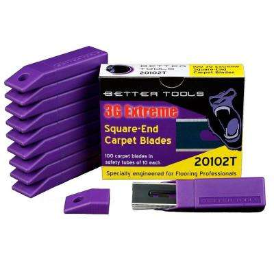 0.017 in. Square End Carpet Blades (100-Box)