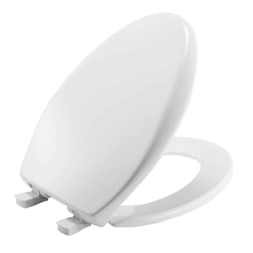 Bemis Slow Close Elongated Closed Front Toilet Seat In