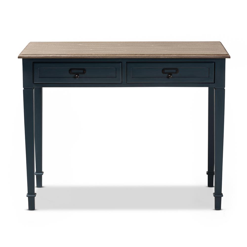 Dauphine Blue and Oak Writing Desk