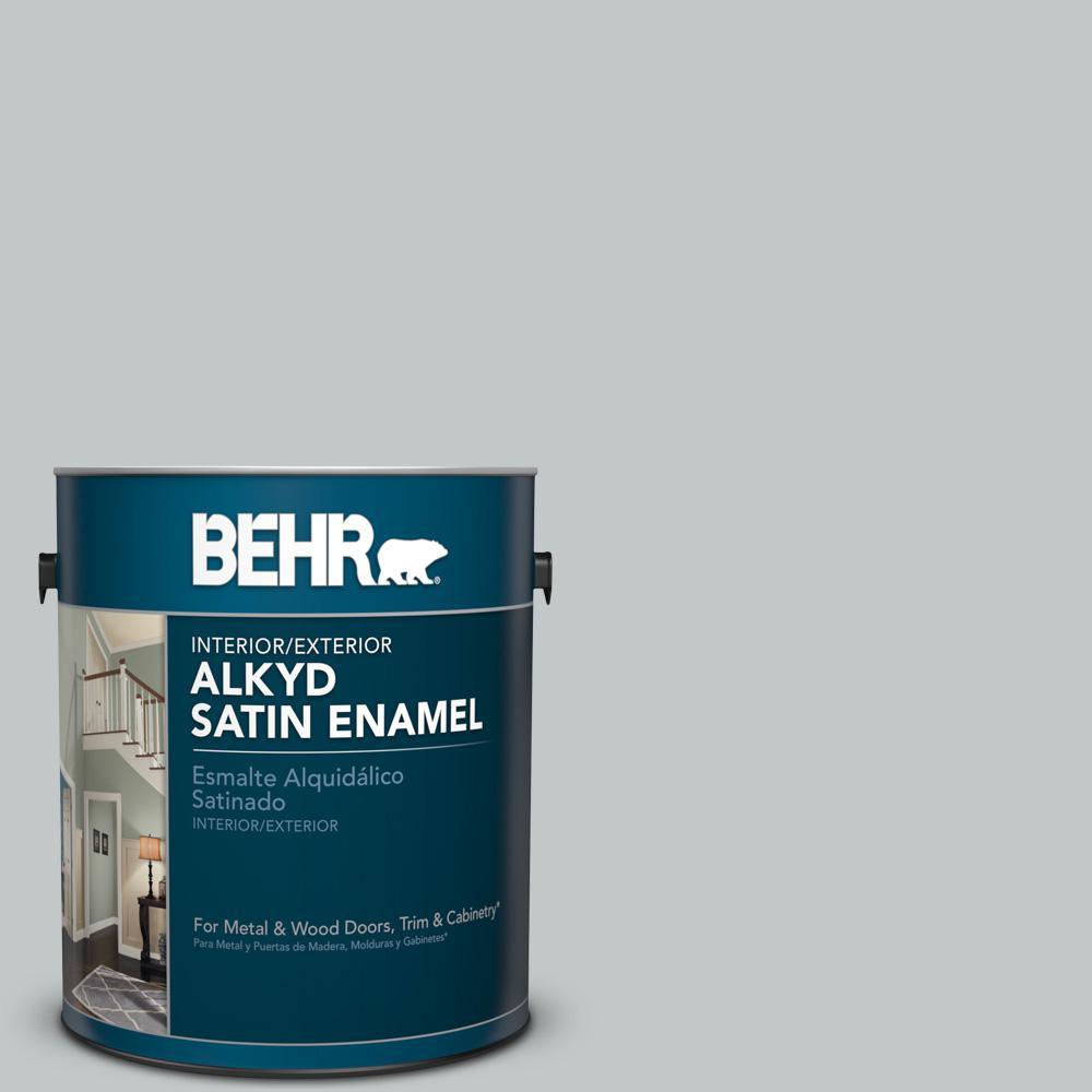 1 gal. #N450-2 Zero Gravity Satin Enamel Alkyd Interior/Exterior Paint