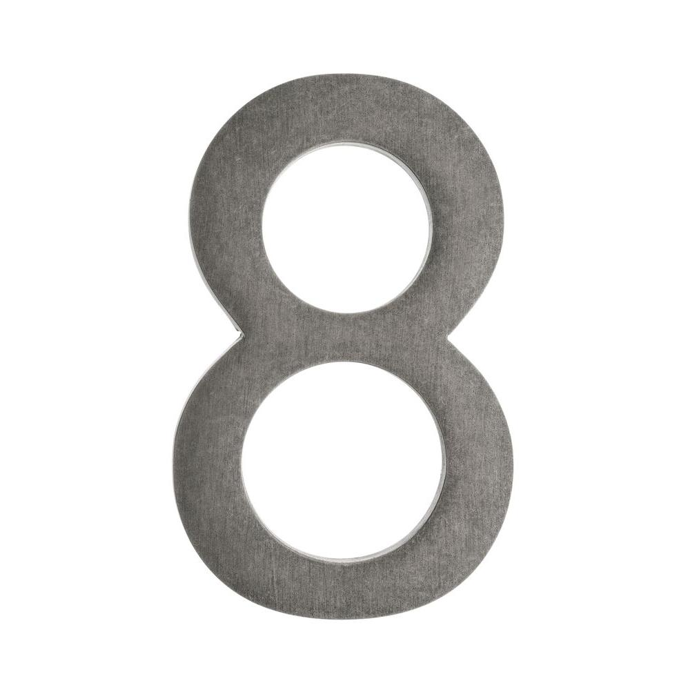 4 In. Antique Pewter Floating House Number 8