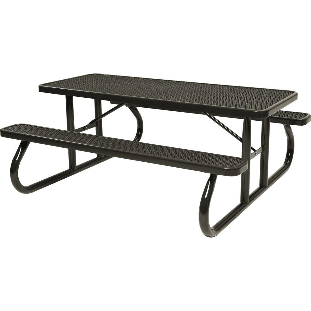 Tradewinds Park 8 ft. Brown Commercial Picnic Table