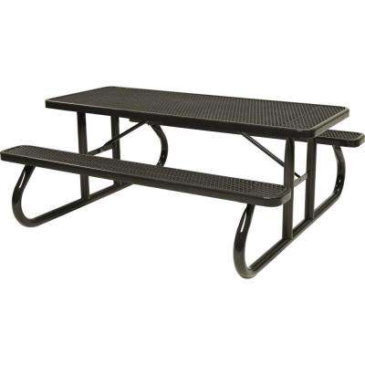 Park 8 ft. Brown Commercial Picnic Table