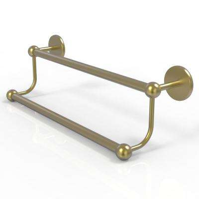 Prestige Skyline Collection 24 in. Double Towel Bar in Satin Brass
