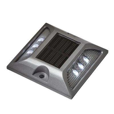 Solar Powered Silver Heavy Duty Integrated LED Dock, Deck and Pathway Light with 6 LED lights