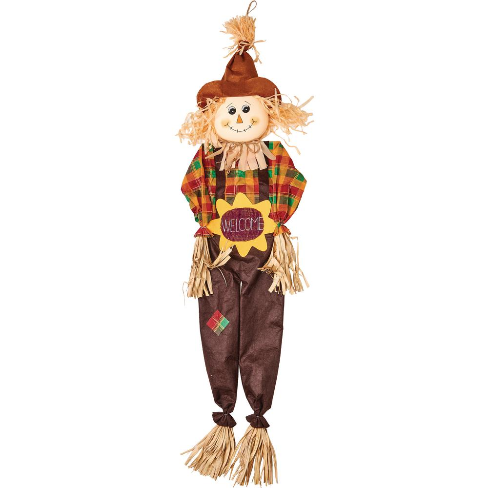 Worth Imports 60 in. Hanging Scarecrow, Sunflower Sign