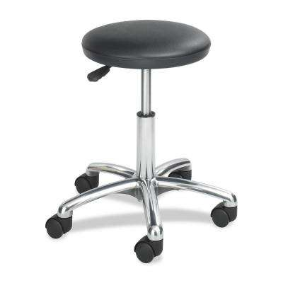 Black Vinyl Lab Stool