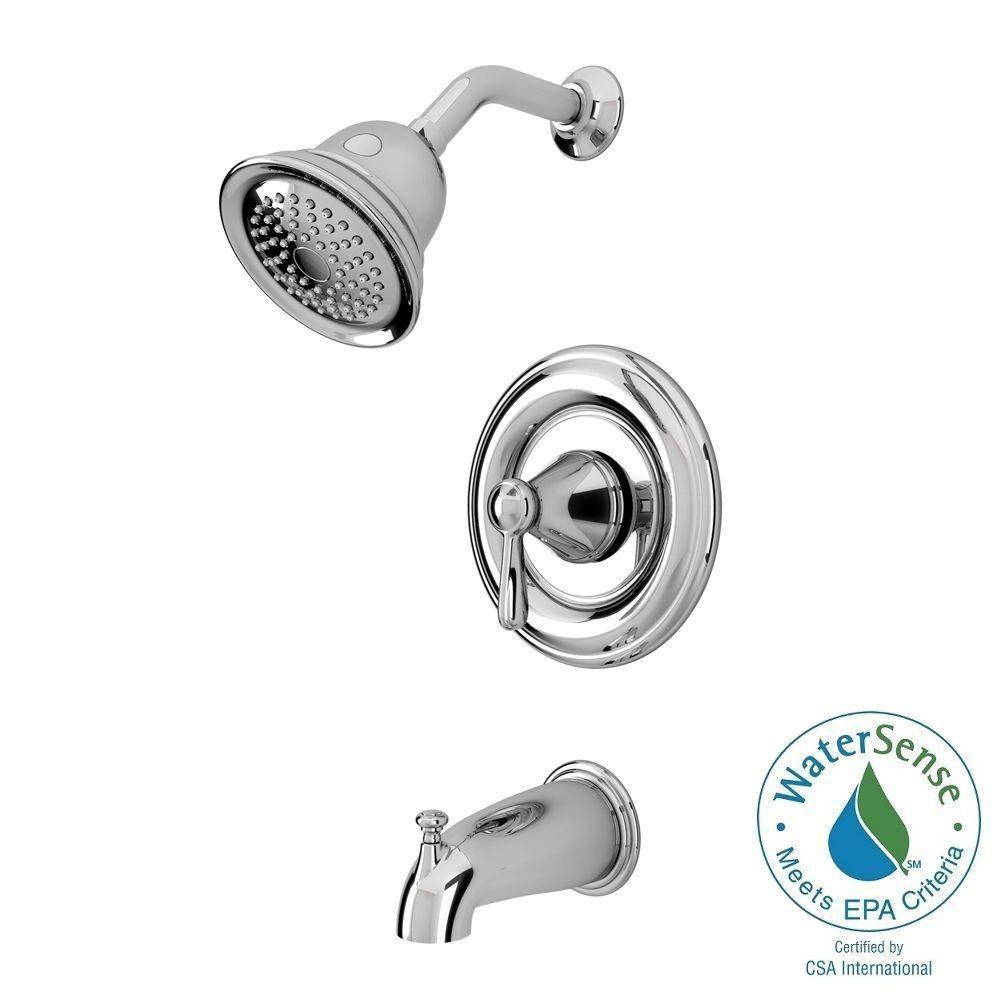 American Standard Marquette 1 Handle 1 Spray Tub And Shower Faucet In  Polished Chrome (Valve Included) 7761   The Home Depot