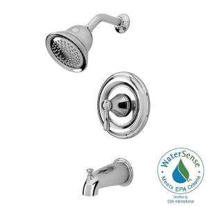 Marquette 1 Handle 1 Spray Tub and Shower Faucet in Polished ChromeDelta Silverton Single Handle 1 Spray Tub and Shower Faucet in  . One Piece Shower Faucet. Home Design Ideas