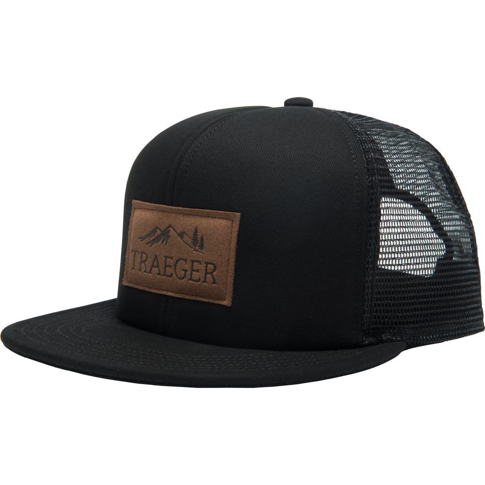 traeger black trucker hat adjustable app160 the home depot rh homedepot com
