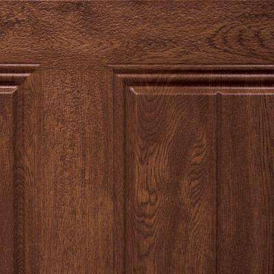 5 in. x 2.5 in. Steel Garage Door Color Sample in Ultra-Grain Dark Oak Finish