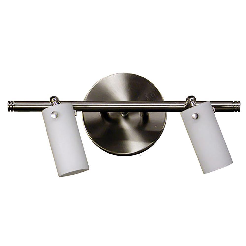 2-Light Satin Steel Track Lighting Kit