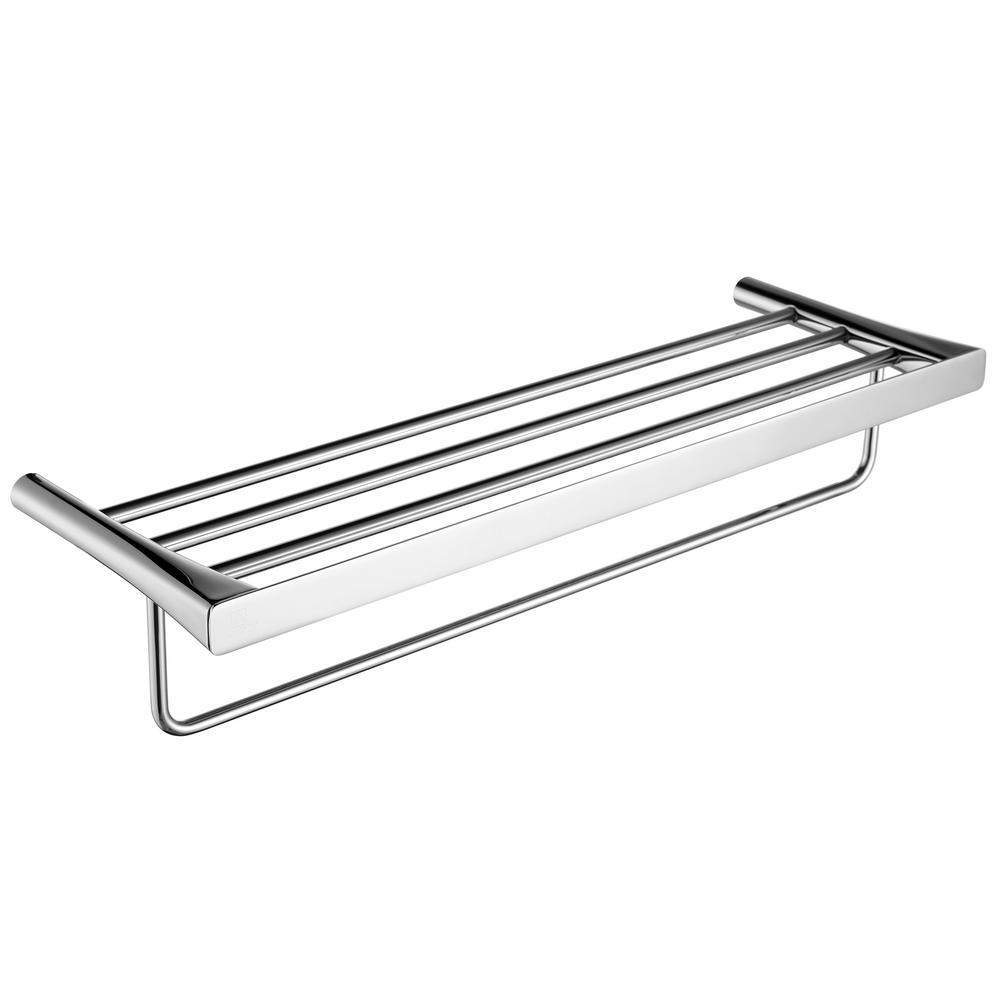 ANZZI Caster 3 Series 5 Bar Towel Rack in Polished Chrome