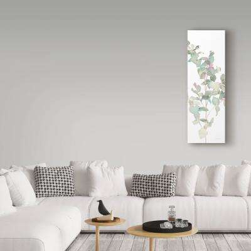 "47 in. x 16 in. ""Eucalyptus II White Crop"" by Danhui Nai Printed Canvas Wall Art"
