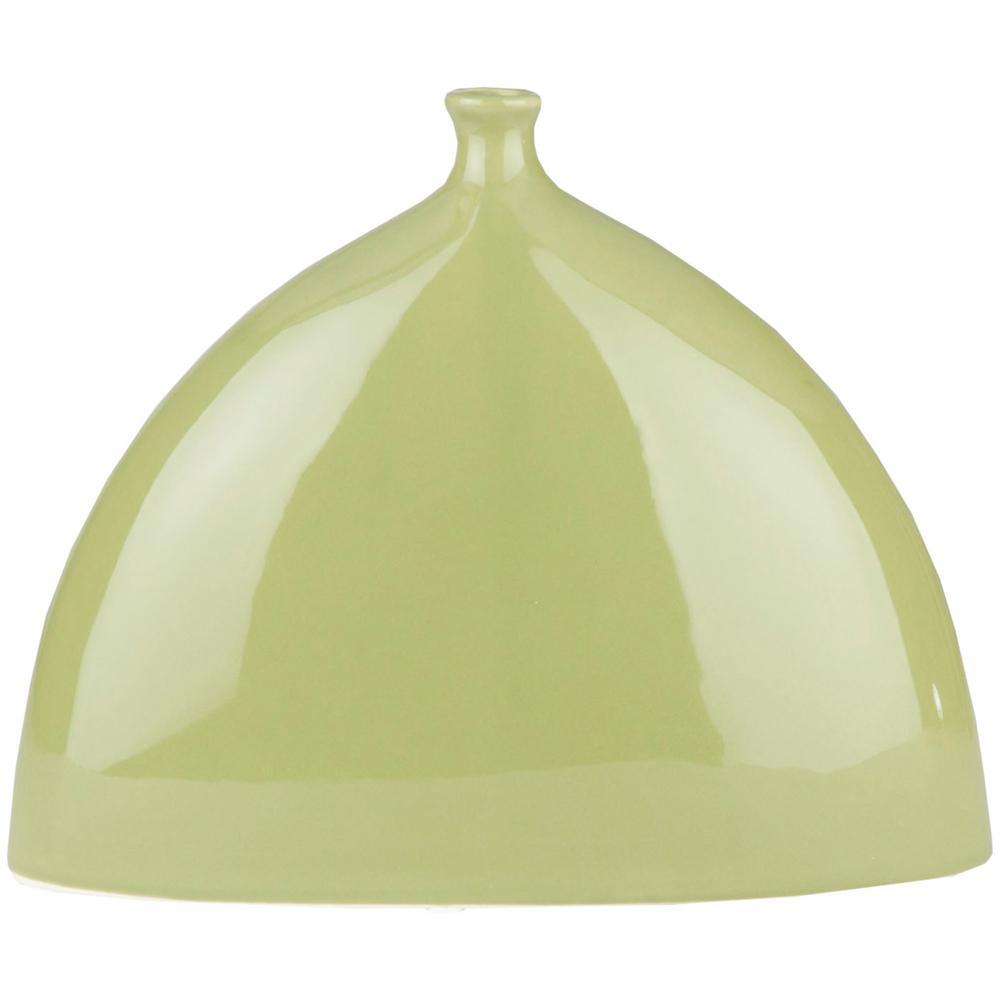 Chel 8.1 in. Green Ceramic Decorative Vase