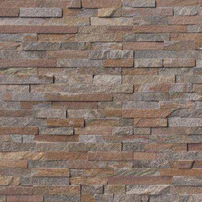 Amber Falls Ledger Panel 6 in. x 24 in. Natural Quartzite Wall Tile (10 cases / 60 sq. ft. / pallet)