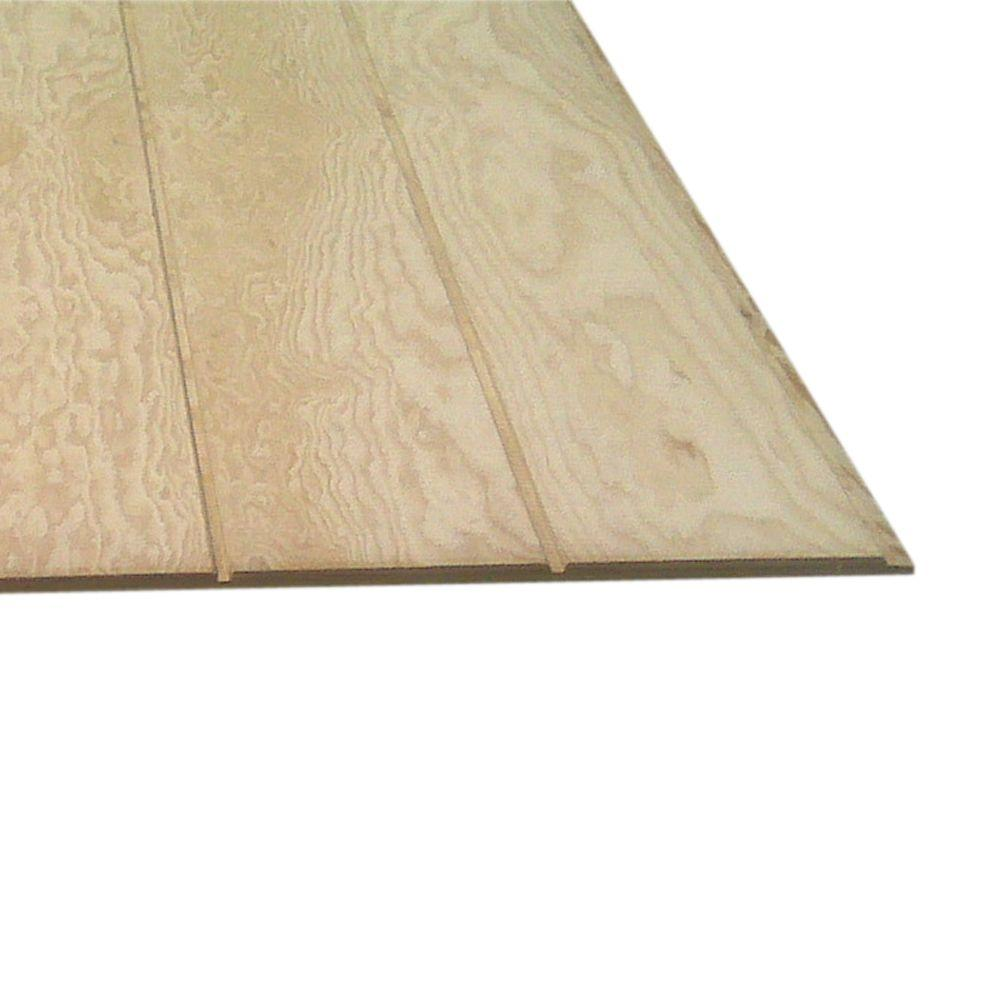 Plywood Siding Panel T1 11 8 IN OC (Common: 5/8 In