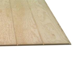 Plywood Siding Panel T1-11 8 IN OC (Common: 5/8 in  x 4 ft  x 10 ft