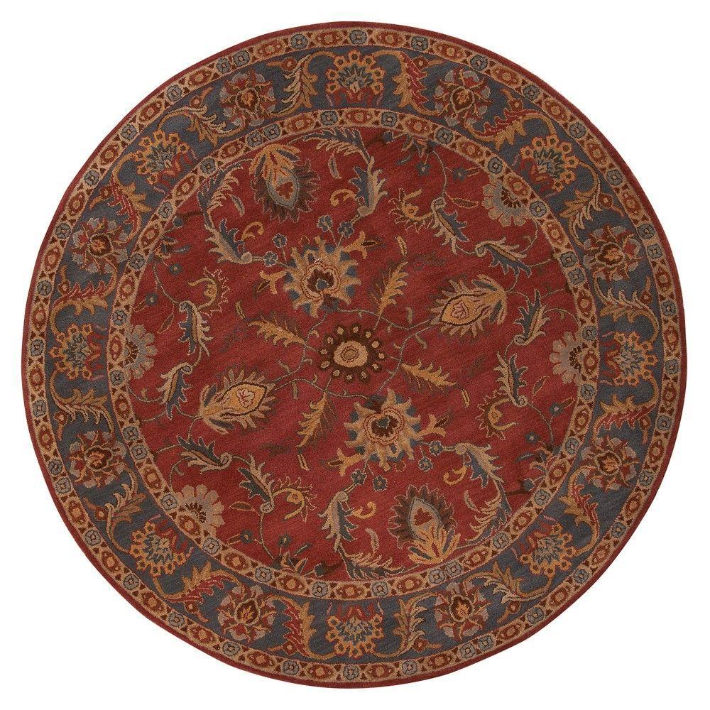Aristocrat Rust Red 8 ft. x 8 ft. Round Area Rug