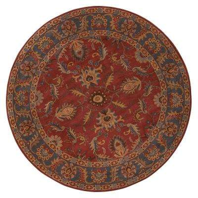 Aristocrat Rust Red 8 ft. x 8 ft. Round Area Rug