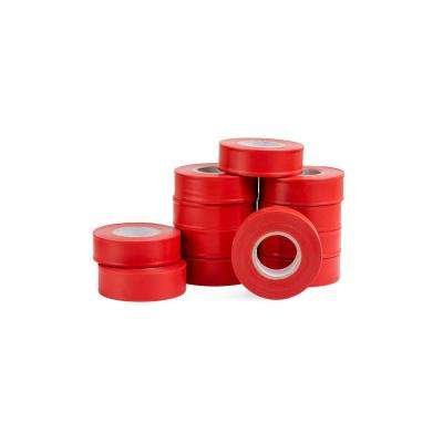 1 in. x 150 ft. Fluorescent Red Flagging Tape (12-Pack)