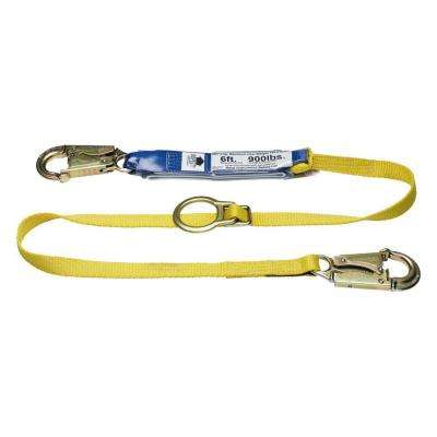 Upgear 6 ft. DeCoil Tie-Back Single Leg Lanyard with DCELL Shock Pack, Snap Hook, 1 in. Web