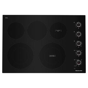 30 in. Radiant Electric Cooktop in Black with 5-Elements and Knob Controls