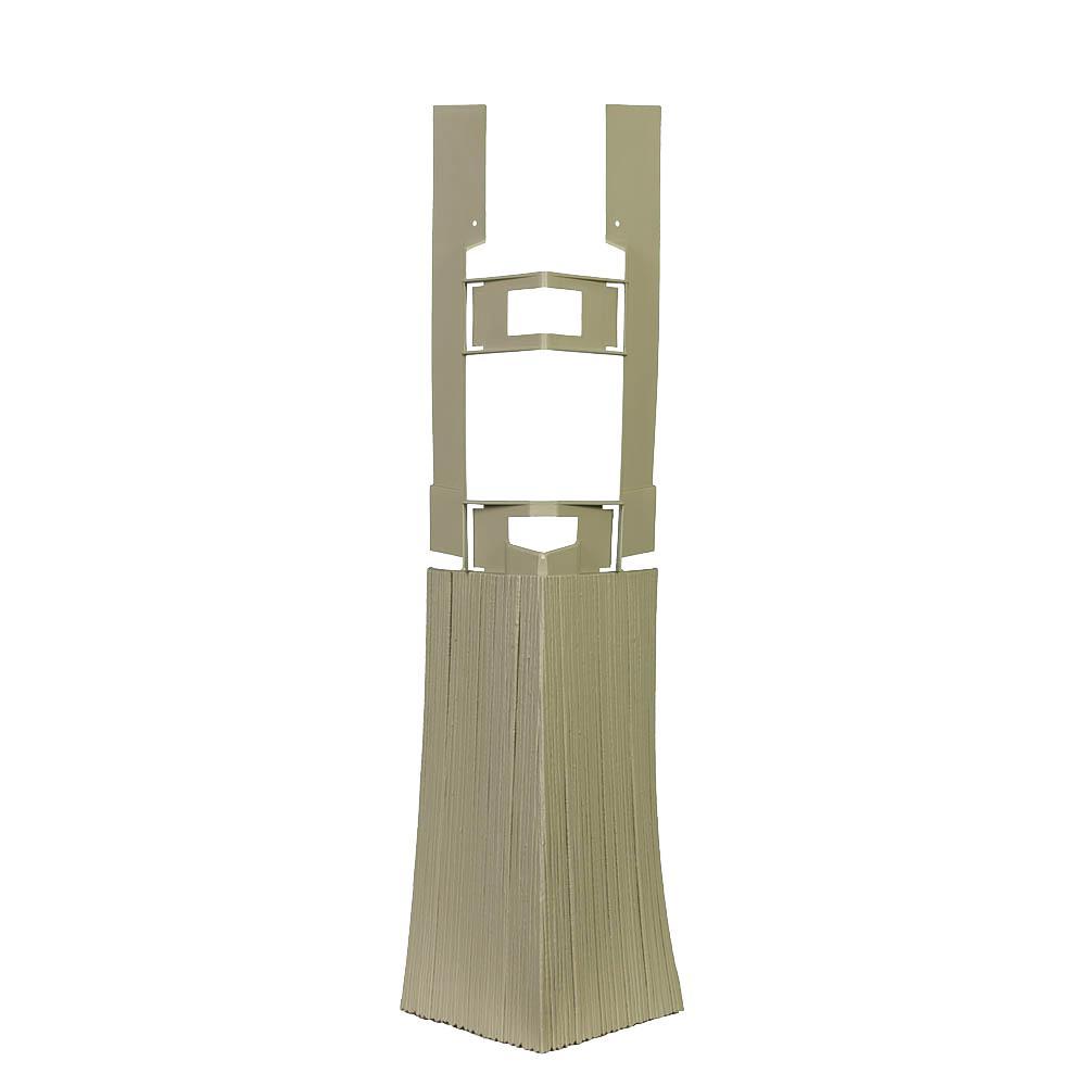 Shake HS - 4.75 in. x 19.25 in. Hand-Split Shake in Khaki - Corner (3.85 lin. ft. per Box) Trim Plastic Siding