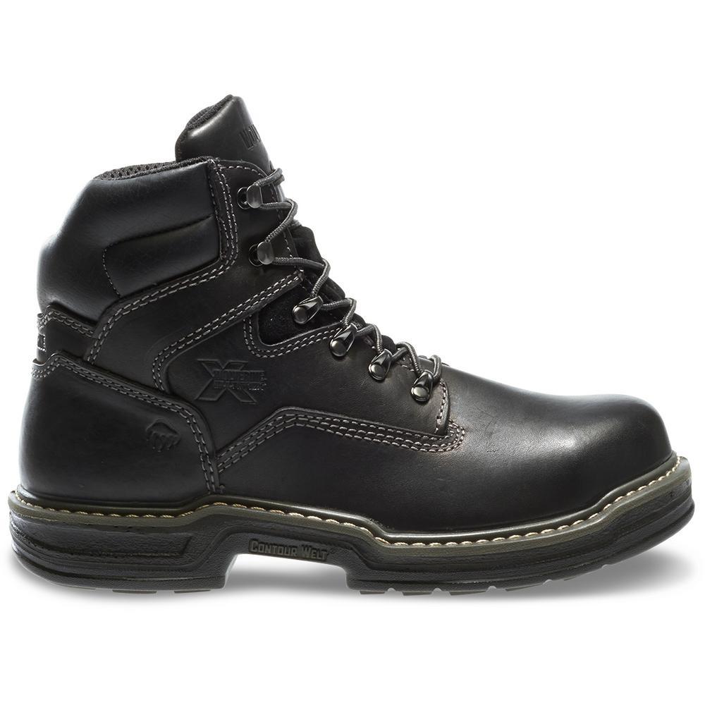 """Men's Raider Size 9M Black Full-Grain Leather Steel Toe 6"""" Boot"""