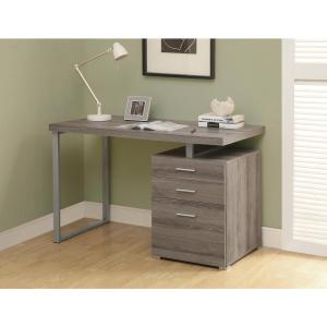 Monarch Specialties Gray Desk with File Cabinet-I 7426 - The Home ...