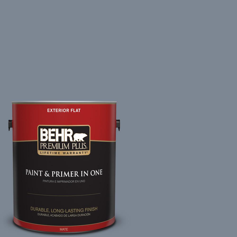 1 gal. #PPU14-05 Forever Denim Flat Exterior Paint