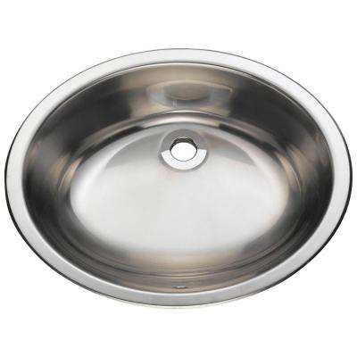 Dual-Mount Bathroom Vessel Sink in Stainless Steel