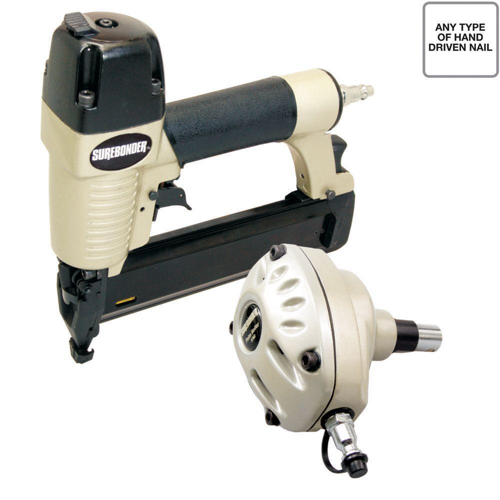 Surebonder Pneumatic Palm Nailer and 2 inch x 18-Gauge Brad Nailer Combo Kit by Surebonder