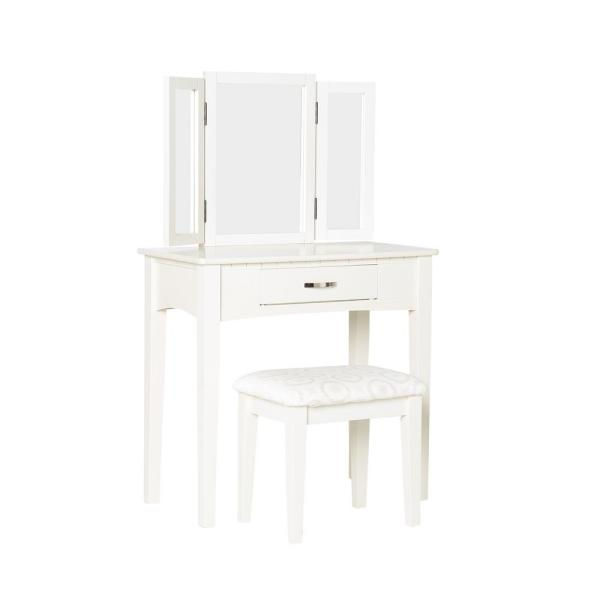 Furniture of America Dalorry 2-Piece White Vanity Set IDF-DK6490WH